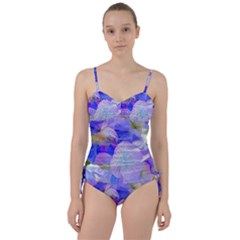 Flowers Abstract Colorful  Sweetheart Tankini Set