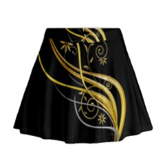 Patterns Yellow Background  Mini Flare Skirt