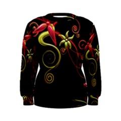 Flower Patterns Background  Women s Sweatshirt