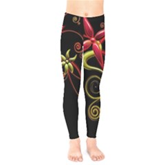 Flower Patterns Background  Kids  Legging