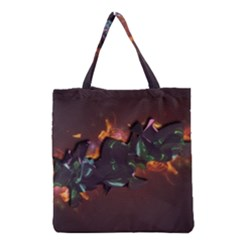 Abstraction Patterns Stripes  Grocery Tote Bag