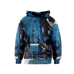 Abstraction Stains Paint  Kids  Zipper Hoodie