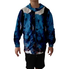 Abstraction Stains Paint  Hooded Wind Breaker (kids)