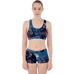 Abstraction Stains Paint  Work It Out Sports Bra Set