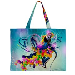 Parrot Abstraction Patterns Zipper Mini Tote Bag