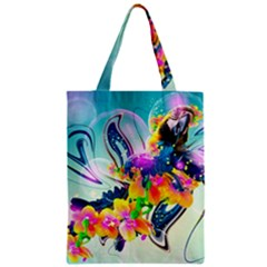 Parrot Abstraction Patterns Zipper Classic Tote Bag