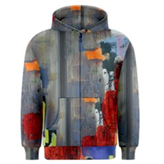Abstract Paint Stain  Men s Zipper Hoodie