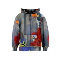 Abstract Paint Stain  Kids  Zipper Hoodie