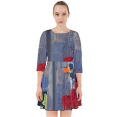 Abstract Paint Stain  Smock Dress