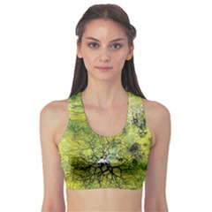 Abstract Spots Lines Sports Bra