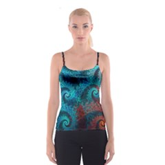 Abstract Patterns Spiral  Spaghetti Strap Top