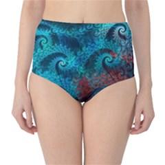 Abstract Patterns Spiral  High Waist Bikini Bottoms