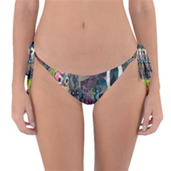 Psychedelic Abstraction Pattern  Reversible Bikini Bottom