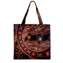 Fractal Patterns Abstract  Zipper Grocery Tote Bag