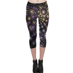 Fractal Patterns Dark Capri Leggings