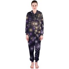 Fractal Patterns Dark Hooded Jumpsuit (ladies)