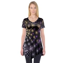Fractal Patterns Dark Short Sleeve Tunic