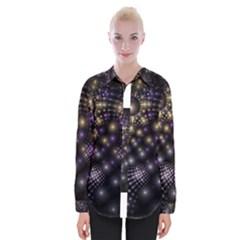 Fractal Patterns Dark Womens Long Sleeve Shirt