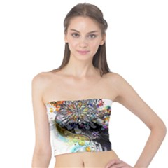 Abstraction Painting Girl  Tube Top