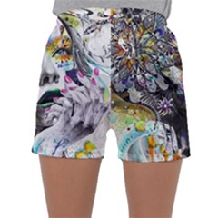 Abstraction Painting Girl  Sleepwear Shorts