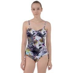Abstraction Painting Girl  Sweetheart Tankini Set