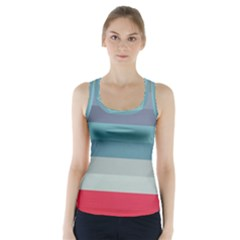 Line Light Pattern  Racer Back Sports Top