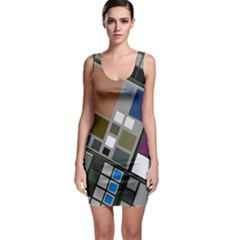 Abstract Composition Bodycon Dress