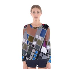 Abstract Composition Women s Long Sleeve Tee