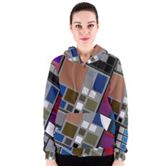 Abstract Composition Women s Zipper Hoodie