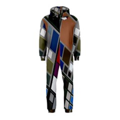 Abstract Composition Hooded Jumpsuit (kids)