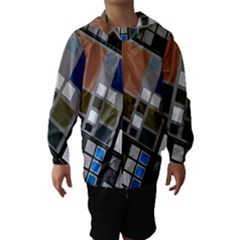 Abstract Composition Hooded Wind Breaker (kids)