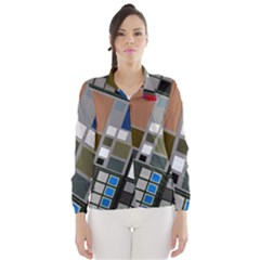 Abstract Composition Wind Breaker (women)