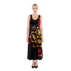 Algorithmic Drawings Sleeveless Maxi Dress