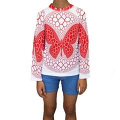 Butterfly Kids  Long Sleeve Swimwear