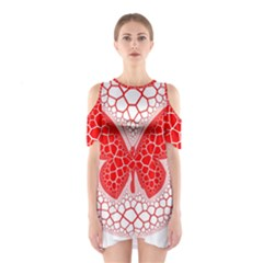 Butterfly Shoulder Cutout One Piece