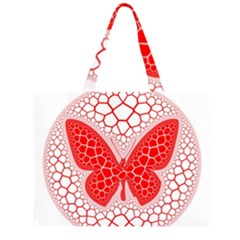 Butterfly Zipper Large Tote Bag