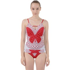 Butterfly Cut Out Top Tankini Set