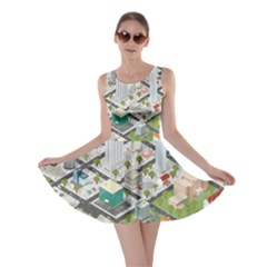 Simple Map Of The City Skater Dress