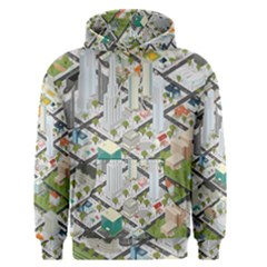 Simple Map Of The City Men s Pullover Hoodie