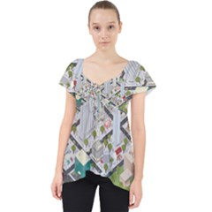 Simple Map Of The City Dolly Top