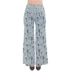 Telephone Lines Repeating Pattern Pants