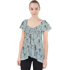 Telephone Lines Repeating Pattern Dolly Top