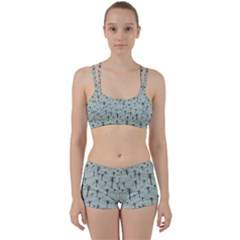 Telephone Lines Repeating Pattern Women s Sports Set