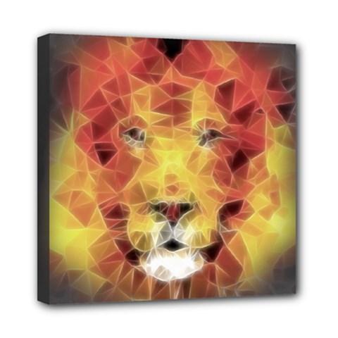 Fractal Lion Mini Canvas 8  X 8