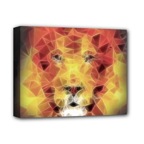 Fractal Lion Deluxe Canvas 14  X 11