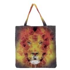 Fractal Lion Grocery Tote Bag
