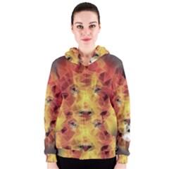 Fractal Lion Women s Zipper Hoodie