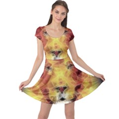 Fractal Lion Cap Sleeve Dress