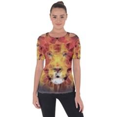 Fractal Lion Short Sleeve Top