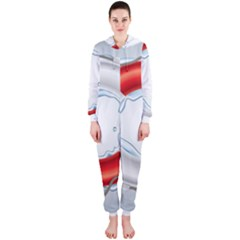Spare Tire Icon Vector Hooded Jumpsuit (ladies)